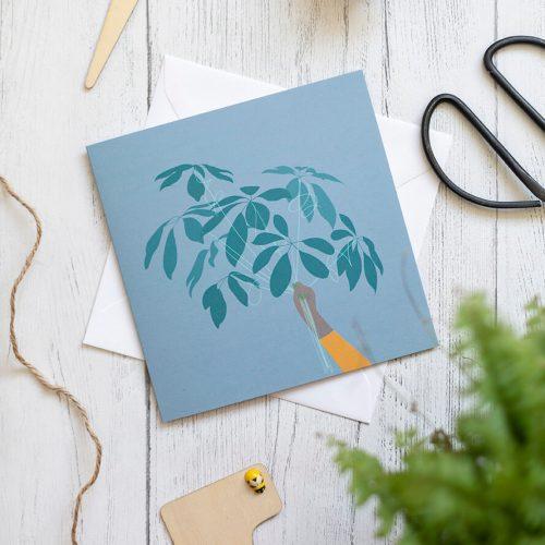 Leaf-balloons-greetings-card-rock-paper-swan